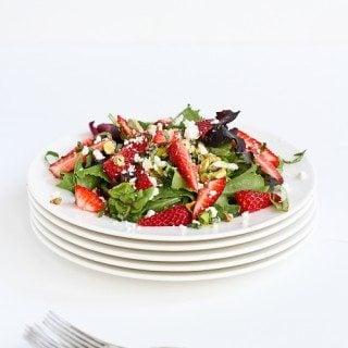 Strawberry, Pistachio, Feta Cheese & Basil Salad Recipe