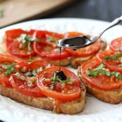 Roasted Tomato Sandwich Recipe with Goat Cheese & Balsamic Syrup | cookincanuck.com