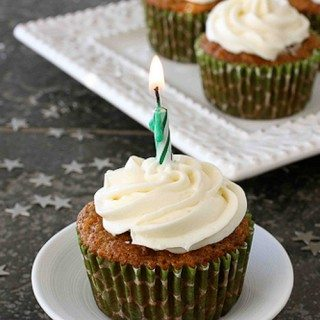 Carrot Ginger Cupcakes with Cream Cheese Frosting Recipe – 40th Birthday