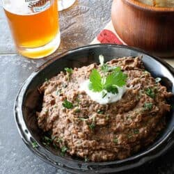 Spicy Black Bean Dip with Roasted Red & Chipotle Pepper Recipe | cookincanuck.com