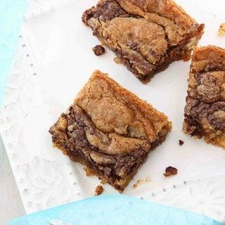 Nutella & Cream Cheese Swirled Blondie Recipe For A Surprise Baby Shower
