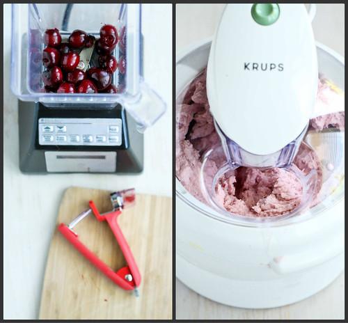 Cherry, Coconut & Honey Frozen Yogurt Recipe {Low Sugar} | cookincanuck.com