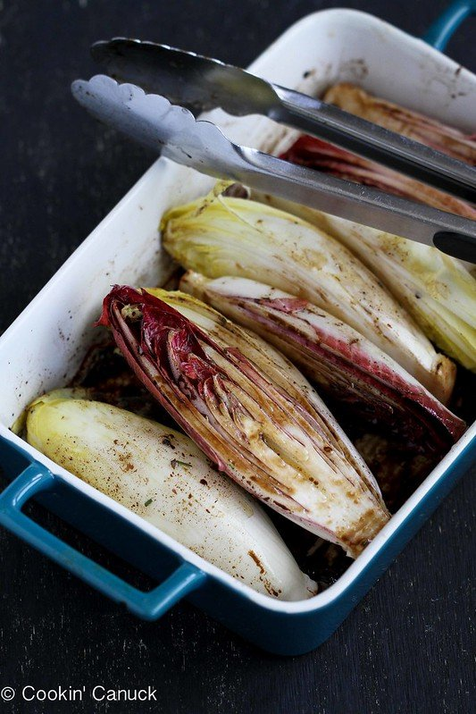 Grilled Endive Recipe with Pistachios, Dried Cherries & Feta Cheese | cookincanuck.com