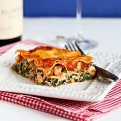 Healthy Chicken & Spinach Lasagna Recipe | cookincanuck.com for allparenting.com
