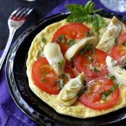Summertime Frittata Recipe with Artichoke, Tomato & Basil