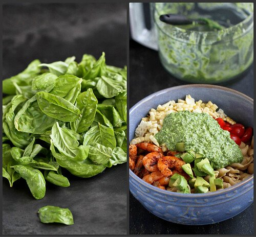 Shrimp, Corn & California Avocado Pasta Salad Recipe | cookincanuck.com #recipe #pasta