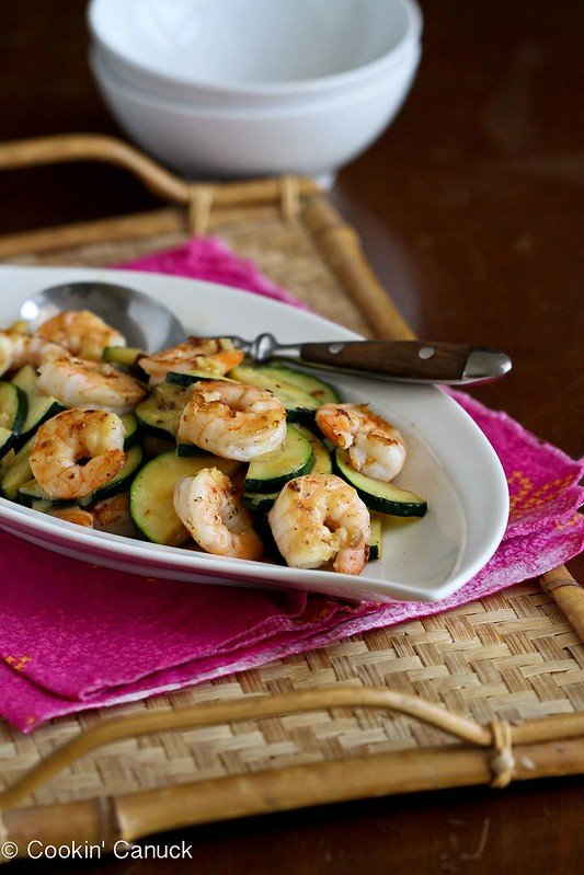 Shrimp and Zucchini Stir-Fry Recipe with Miso Lime Sauce...Healthy, with amazing flavors! 209 calories and 3 Weight Watchers Freestyle SP