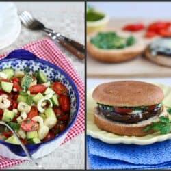 Hearts of Palm Salad, Oven-Fried Chicken & Portobello Mushroom Burger | cookincanuck.com