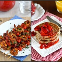 New Recipes: Shrimp Kebabs, Springs Rolls & Strawberry Sauce