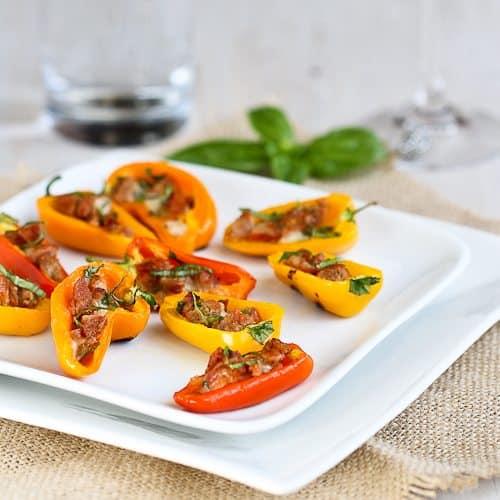 Cookin' Canuck | Mini Grilled Stuffed Peppers Recipe w/Sausage & Basil
