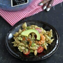 Shrimp, Corn & California Avocado Pasta Salad Recipe & a CA Avocado Trip | cookincanuck.com