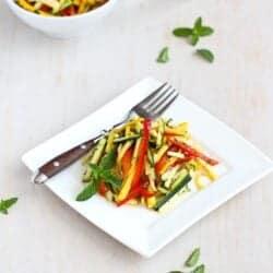 Tricolor Thai Salad Recipe with Zucchini & Yellow Squash