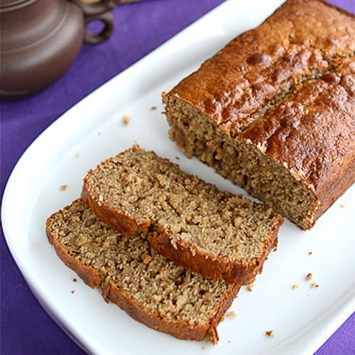 Peanut Butter & Banana Whole Wheat Quick Bread Recipe