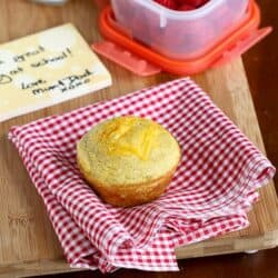 Healthy Cornmeal Avocado Muffin Recipe with Cheddar Cheese | cookincanuck.com