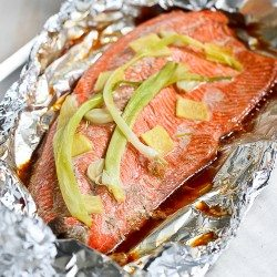 Easy Grilled Salmon Recipe in Foil with Ginger & Soy Sauce | cookincanuck.com