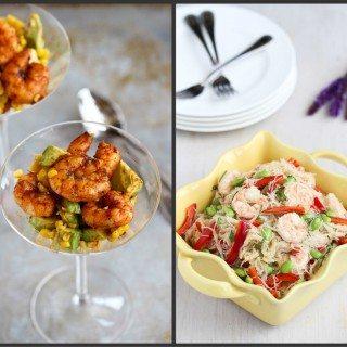 New Recipes: Grilled Crostini, Shrimp Cocktail & Rice Noodle Salad
