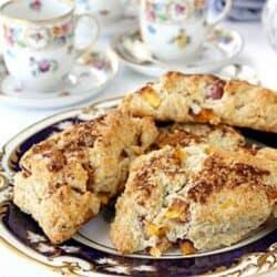 Nectarine & Hazelnut Scone Recipe | www.cookincanuck.com