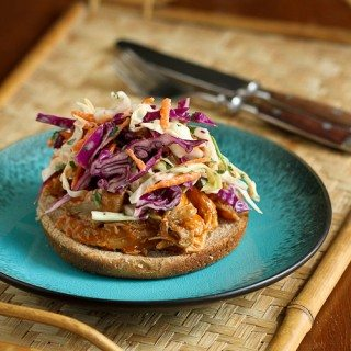Slow Cooker Shredded Barbecue Chicken Recipe with Kefir Cilantro Slaw