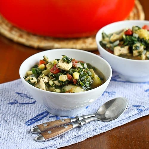 Chicken, Artichoke & Spinach Soup Recipe