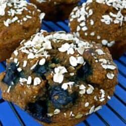 Whole Wheat Pumpkin Bran Muffins with Blueberries & Pecans Recipe   cookincanuck.com