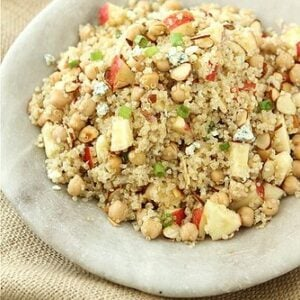 Quinoa Salad with Apple, Chickpeas, Toasted Almonds & Apple Cider ...