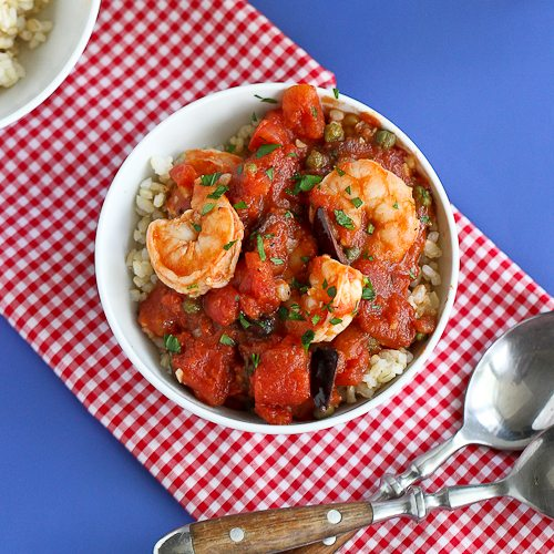 Cookin' Canuck | Shrimp Puttanesca Rice Bowl Recipe w ...