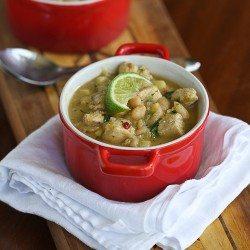 Chipotle White Chicken Chili Recipe with Corn & White Beans {Gluten-Free}