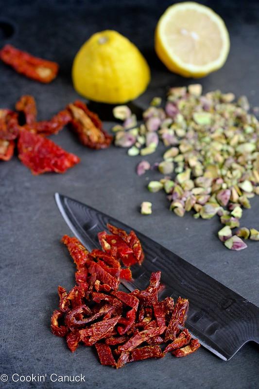Lemon Quinoa Salad with Pistachios & Sun-Dried Tomatoes | cookincanuck.com #quinoa #vegetarian