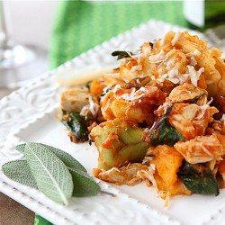 Baked Tortellini with Turkey, Butternut Squash & Chard Recipe | cookincanuck.com