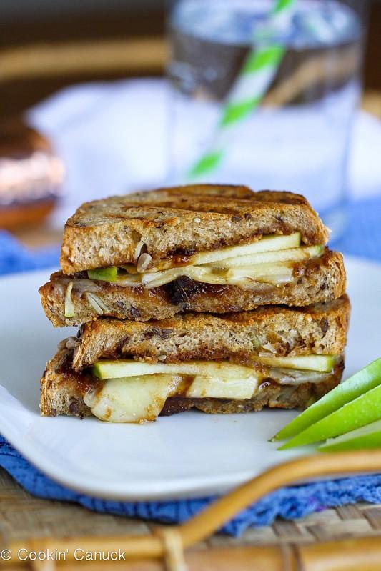 Gruyère, Apples & Fig Panini Recipe {Cookbook Giveaway} | cookincanuck.com #panini #sandwich #vegetarian