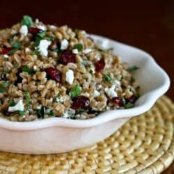 Easy Farro Salad with Goat Cheese & Cranberries Recipe | Cookin' Canuck
