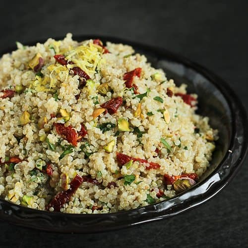 Lemon Quinoa Salad with Pistachios & Sun-Dried Tomatoes