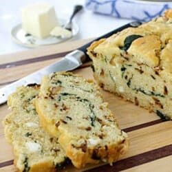 Caramelized Onion & Spinach Olive Oil Quick Bread Recipe   cookincanuck.com