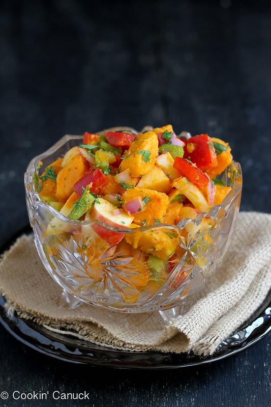Sweet Potato & Apple Salad Recipe with Chipotle Lime Dressing   cookincanuck.com #recipe #vegetarian #glutenfree