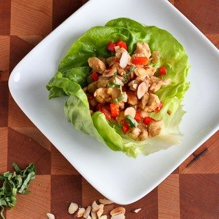 Almond & Basil Chicken Lettuce Wraps Recipe