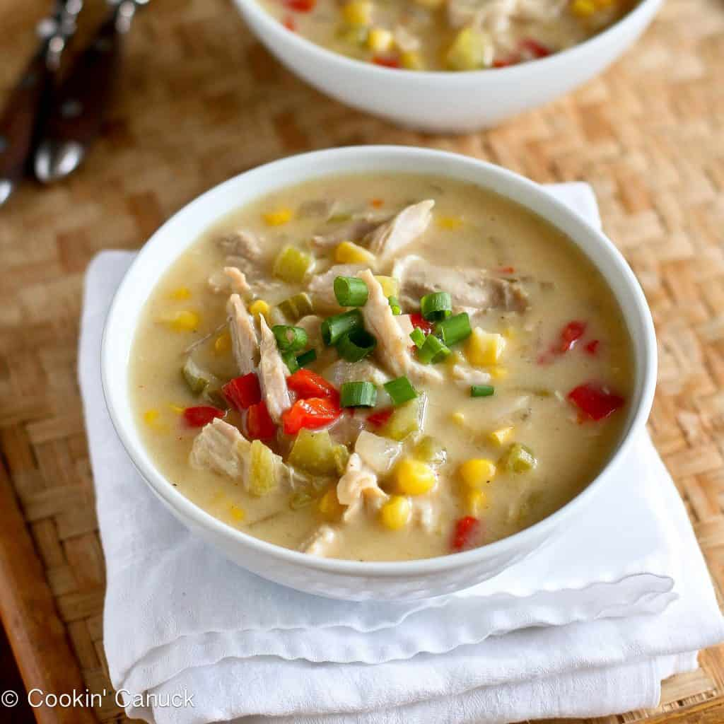 Light Turkey (or Chicken) & Corn Chowder Recipe