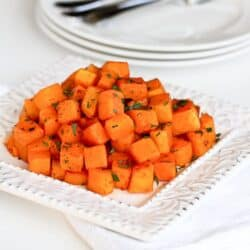 5-Ingredient Roasted Butternut Squash Recipe with Smoked Paprika | cookincanuck.com