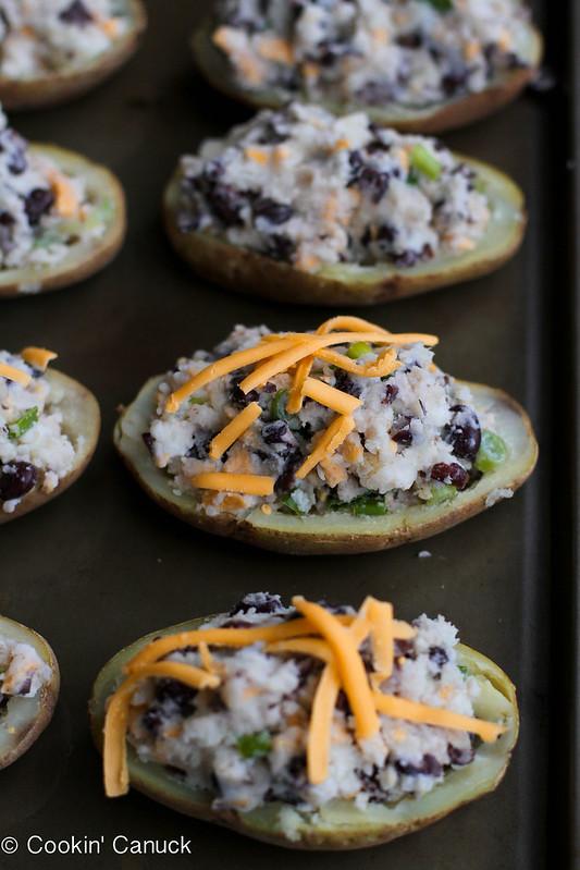 Light Southwestern Twice-Baked Baked Potato Recipe | cookincanuck.com #vegetarian #glutenfree