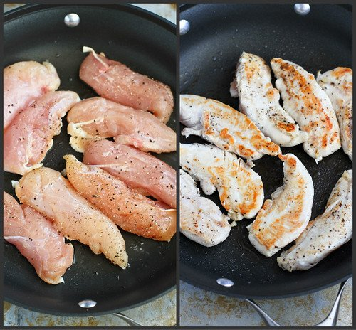 Chicken Tenders with Cherry Ginger Glaze Recipe   cookincanuck.com #chicken #recipe