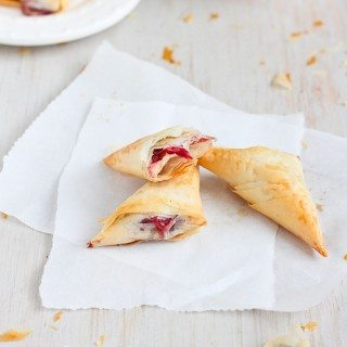 3-Ingredient Brie & Cranberry Phyllo Turnovers Recipe