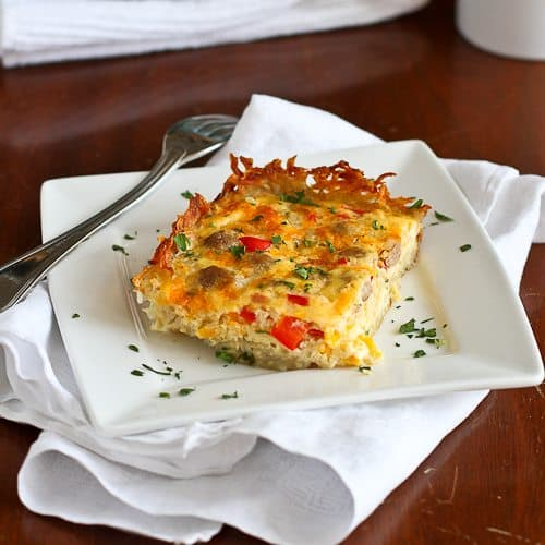 Skinny Sausage and Egg Breakfast Casserole Recipe