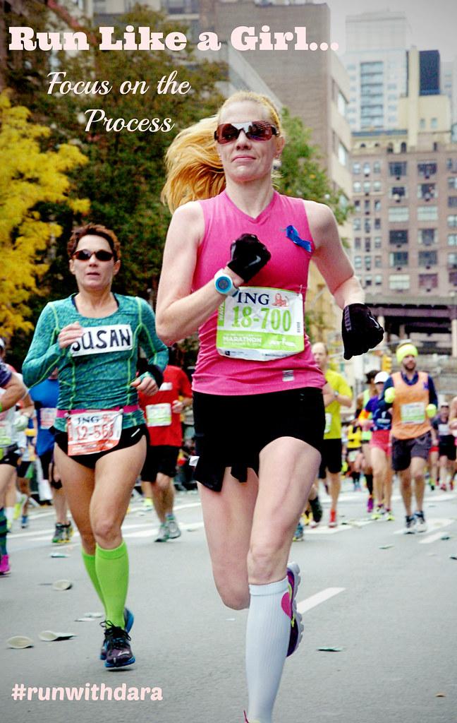 Run Like a Girl: Focus on the Process | cookincanuck.com #runwithdara #running #fitness #exercise