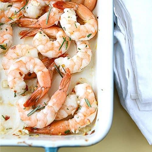 Roasted Shrimp with Rosemary, Garlic & Lemon