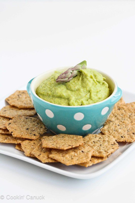Asparagus Hummus Recipe for Healthy Snacking by Cookin' Canuck #recipe #vegan #vegetarian