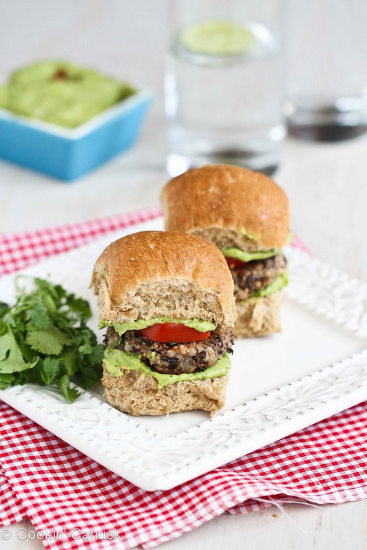 Black Bean Sliders Recipe with Creamy California Avocado Sauce | cookincanuck.com