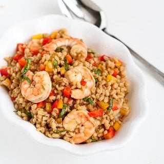 Toasted Barley & Shrimp Salad Recipe