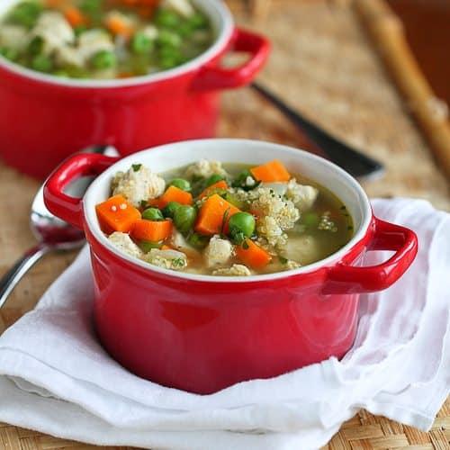 Light Chicken, Quinoa & Vegetable Soup Recipe