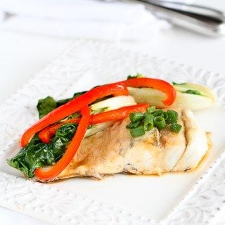 Asian-Style Fish & Bok Choy in Foil Recipe {Barramundi}