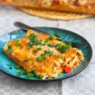 Pumpkin & Chicken Enchiladas Recipe