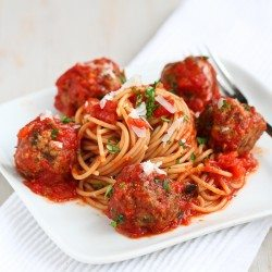 Healthy Slow Cooker Spaghetti & Meatballs Recipe | cookincanuck.com